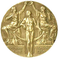 Summer Olympics 1908 Medal Front Side