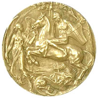 Summer Olympics 1908 Medal Reverse Side