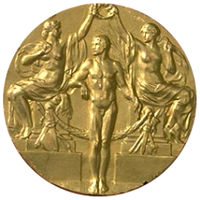 Summer Olympics 1912 Medal Front Side