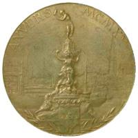 Летние Игры 1920 обратная сторона медали