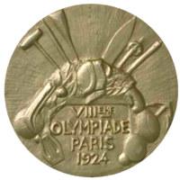 Летние Игры 1924 обратная сторона медали