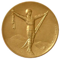 Winter Olympics 1924 Medal Front Side