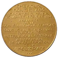 Winter Olympics 1924 Medal Reverse Side