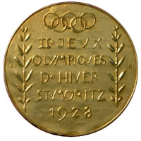 Winter Olympics 1928 Medal Reverse Side