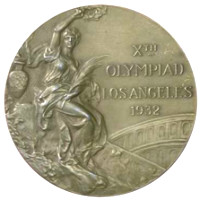 Summer Olympics 1932 Medal Front Side