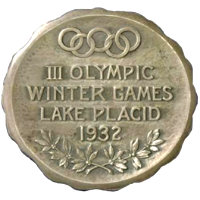 Winter Olympics 1932 Medal Reverse Side