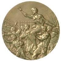 Летние Игры 1936 обратная сторона медали