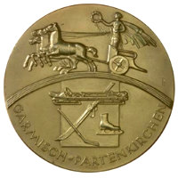 Winter Olympics 1936 Medal Front Side