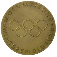 Winter Olympics 1936 Medal Reverse Side