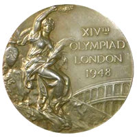 Summer Olympics 1948 Medal Front Side