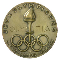 Winter Olympics 1952 Medal Front Side