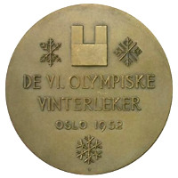 Winter Olympics 1952 Medal Reverse Side