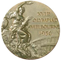 Summer Olympics 1956 Medal Front Side