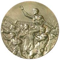 Летние Игры 1956 обратная сторона медали