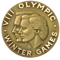 Winter Olympics 1960 Medal Front Side