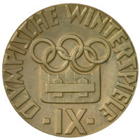 Winter Olympics 1964 Medal Reverse Side