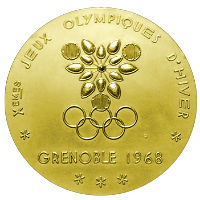 Winter Olympics 1968 Medal Front Side