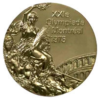 Summer Olympics 1976 Medal Front Side