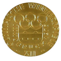 Winter Olympics 1976 Medal Front Side