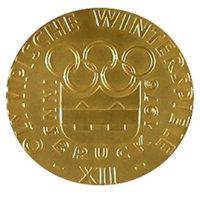 Зимние Игры 1976 лицевая сторона медали