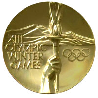 Winter Olympics 1980 Medal Front Side