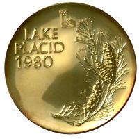 Winter Olympics 1980 Medal Reverse Side
