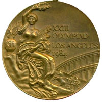 Summer Olympics 1984 Medal Front Side