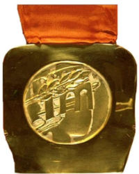 Winter Olympics 1984 Medal Reverse Side