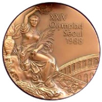 Summer Olympics 1988 Medal Front Side
