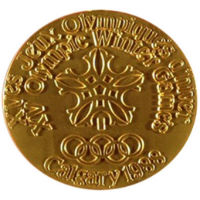Winter Olympics 1988 Medal Front Side