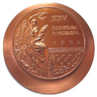 Summer Olympics 1992 Medal Front Side