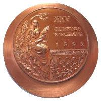 Летние Игры 1992 лицевая сторона медали