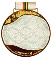 Winter Olympics 1992 Medal Front Side