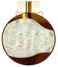 Winter Olympics 1992 Medal Reverse Side