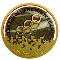 Winter Olympics 1994 Medal Front Side