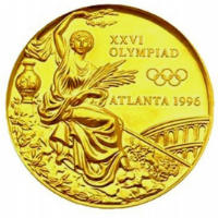 Summer Olympics 1996 Medal Front Side