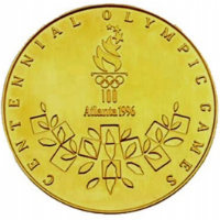 Summer Olympics 1996 Medal Reverse Side