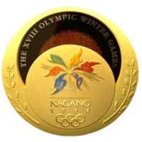 Winter Olympics 1998 Medal Front Side