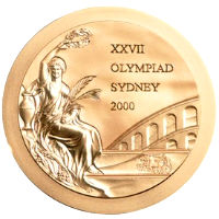 Summer Olympics 2000 Medal Front Side