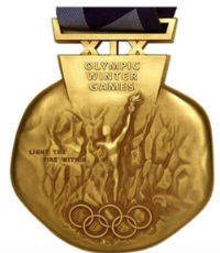 Winter Olympics 2002 Medal Front Side