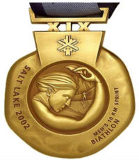 Winter Olympics 2002 Medal Reverse Side