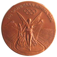 Summer Olympics 2004 Medal Front Side