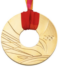 Winter Olympics 2006 Medal Front Side