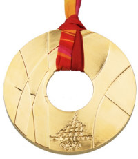 Winter Olympics 2006 Medal Reverse Side
