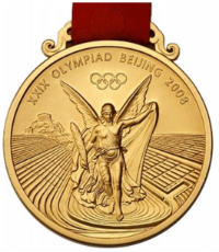Summer Olympics 2008 Medal Front Side