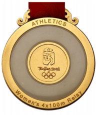 Summer Olympics 2008 Medal Reverse Side