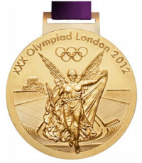 Summer Olympics 2012 Medal Front Side