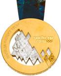 Winter Olympics 2014 Medal Reverse Side
