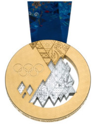 Winter Olympics 2014 Medal Front Side