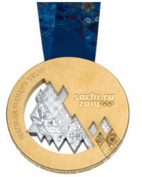 Winter Olympics 2014 Medal Reverse Side